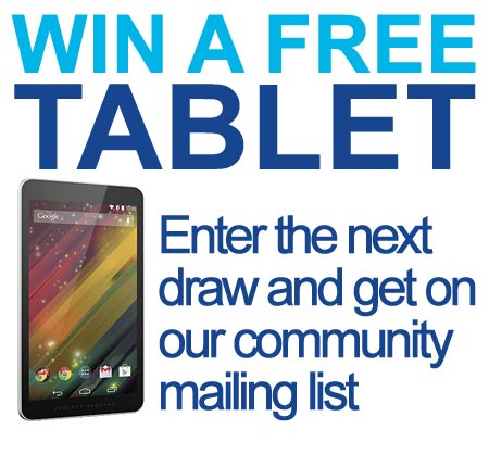 Enter the draw and win a tablet